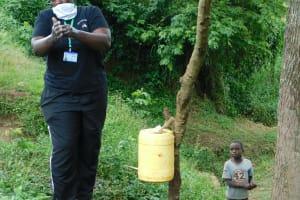 The Water Project: Mungakha Community, Nyanje Spring -  Always Scrub Your Palms