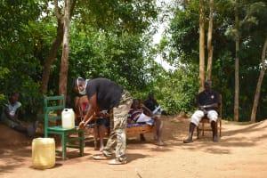 The Water Project: Musango Community, M'muse Spring -  Handwashing Demonstration