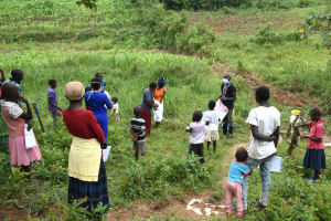 The Water Project: Mukoko Community, Mshimuli Spring -  Trainer Erick Wagaka In Action
