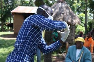 The Water Project: Sambaka Community, Sambaka Spring -  Handwashing Demonstration
