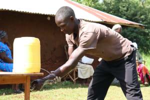 The Water Project: Eluhobe Community, Amadi Spring -  Handwashing Demonstration