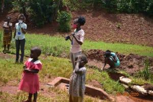 The Water Project: Shikhombero Community, Atondola Spring -  Trainer Adelaide Uses The Camera