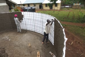 The Water Project: St. Gerald Mayuge Secondary School -  Cementing Interior Walls