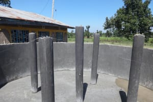The Water Project: St. Michael Mukongolo Primary School -  Plaster On Pillars Dries