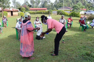 The Water Project: Shirakala Community, Ambani Spring -  Handwashing Demonstration