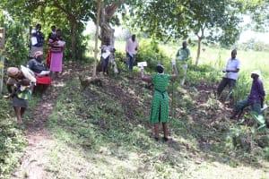 The Water Project: Ewamakhumbi Community, Yanga Spring -  Ms Shigali Leading The Training