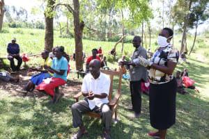 The Water Project: Sambaka Community, Sambaka Spring -  Everyone Was To Repeat The Handwashing Steps