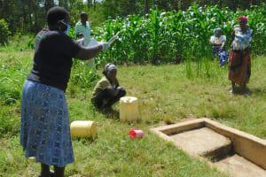 The Water Project: Sichinji Community, Kubai Spring -  Kubai Community Listening Keenly