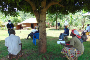 The Water Project: Visiru Community, Kitinga Spring -  Social Distancing Implemented