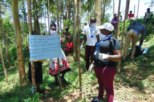 The Water Project:  Team Leader Catherine Inspects The Chart Installed At Training
