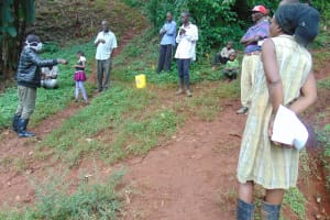 The Water Project: Shitaho Community, Mwikholo Spring -  All Eyes On The Trainer