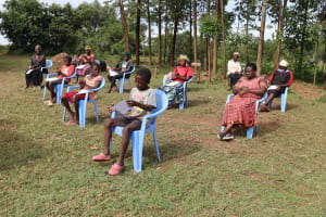 The Water Project: Ematetie Community, Weku Spring -  Social Distancing At The Training