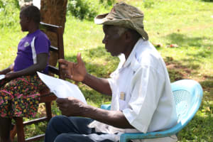 The Water Project: Asimuli Community, John Omusembi Spring -  Asking A Question
