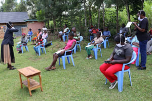 The Water Project: Elukuto Community, Isa Spring -  Use Your Elbow To Cough And Sneeze