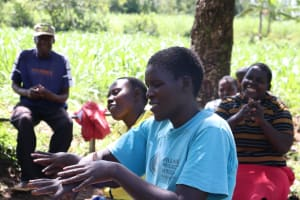 The Water Project: Sambaka Community, Sambaka Spring -  Hanwashing Turned Out To Be Quite Easy And Fun