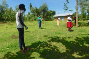 The Water Project: Ataku Community, Ngache Spring -  Social Distancing During Coronavirus Training