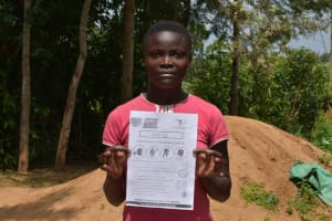 The Water Project: Musango Community, M'muse Spring -  Student Lucy Said She Will Share Information With Other Local Pupils