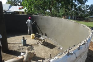 The Water Project: St. Gerald Mayuge Secondary School -  Inside Plaster