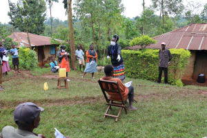 The Water Project: Wanzuma Community, Wanzuma Spring -  Explaining Pamphlets
