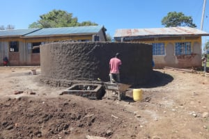 The Water Project: St. Michael Mukongolo Primary School -  Casting Outside Of The Tank
