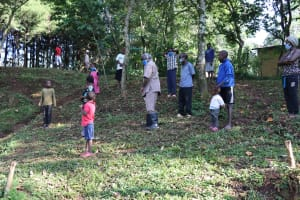 The Water Project: Irumbi Community, Okang'a Spring -  Covid Training In Session