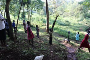 The Water Project: Irumbi Community, Okang'a Spring -  Covid Training