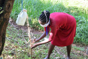 The Water Project: Irumbi Community, Okang'a Spring -  Handwashing Demonstration