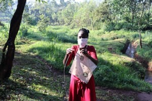 The Water Project: Irumbi Community, Okang'a Spring -  Mask Making
