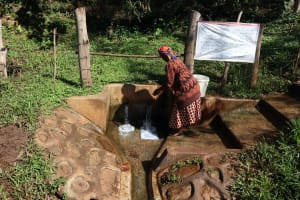 The Water Project: Irumbi Community, Okang'a Spring -  Spring With Covid Prevention Poster