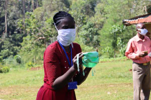 The Water Project: Irumbi Community, Shatsala Spring -  Hand Made Mask Example