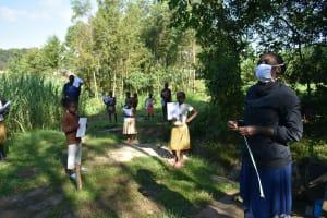 The Water Project: Bukhaywa Community, Ashikhanga Spring -  Facilitator Conducting Training At The Spring