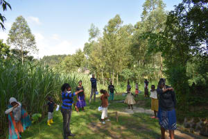 The Water Project: Bukhaywa Community, Ashikhanga Spring -  How To Prevent Virus Spread By Coughing Into Elbow