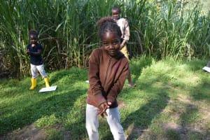 The Water Project: Bukhaywa Community, Ashikhanga Spring -  Kids Follow Handwashing Demonstrations