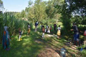 The Water Project: Bukhaywa Community, Ashikhanga Spring -  Ongoing Covid Training At Ashikhanga Spring