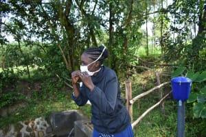 The Water Project: Bukhaywa Community, Ashikhanga Spring -  Proper Mask Wearing