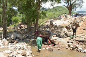 The Water Project: Kasioni Community B -  Construction