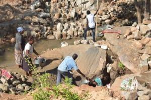 The Water Project: Kasioni Community B -  Dam Construction Work