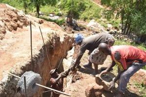 The Water Project: Kasioni Community B -  Trenching