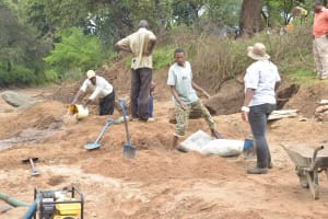 The Water Project: Mbitini Community -  Working On The Construction Site