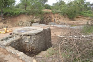 The Water Project: Mbitini Community A -  Well And Dam Progress