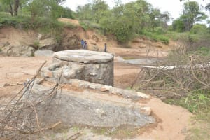 The Water Project: Mbitini Community A -  Well Foundation Nears Completion