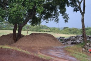 The Water Project: Kavyuni Salvation Army Primary School -  Locally Gathered Materials