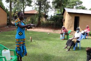 The Water Project: Shitungu Community, Hessein Spring -  Handwashing Demonstration