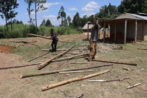 The Water Project: Friends School Vashele Secondary -  Artisans Ferrying And Cutting Poles