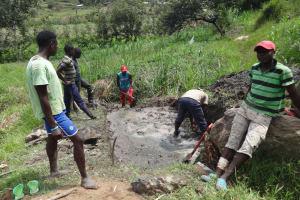 The Water Project: Mahira Community, Kusimba Spring -  Spring Excavation