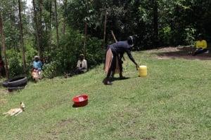 The Water Project: Masera Community, Ernest Mumbo Spring -  Demonstrating Handwashing At The Training