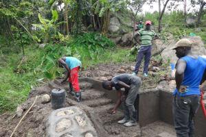 The Water Project: Mahira Community, Kusimba Spring -  Stairs Plaster Works