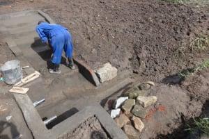 The Water Project: Mahira Community, Jairus Mwera Spring -  Cementwork