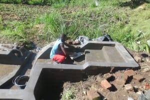 The Water Project: Mahira Community, Kusimba Spring -  Stairs Construction
