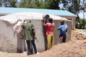 The Water Project: Friends School Vashele Secondary -  Tank Curing Process